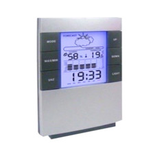 Бытовой цифровой ЖК-гигрометр с дисплеем термометр Температура измеритель влажности Часы-календарь будильник