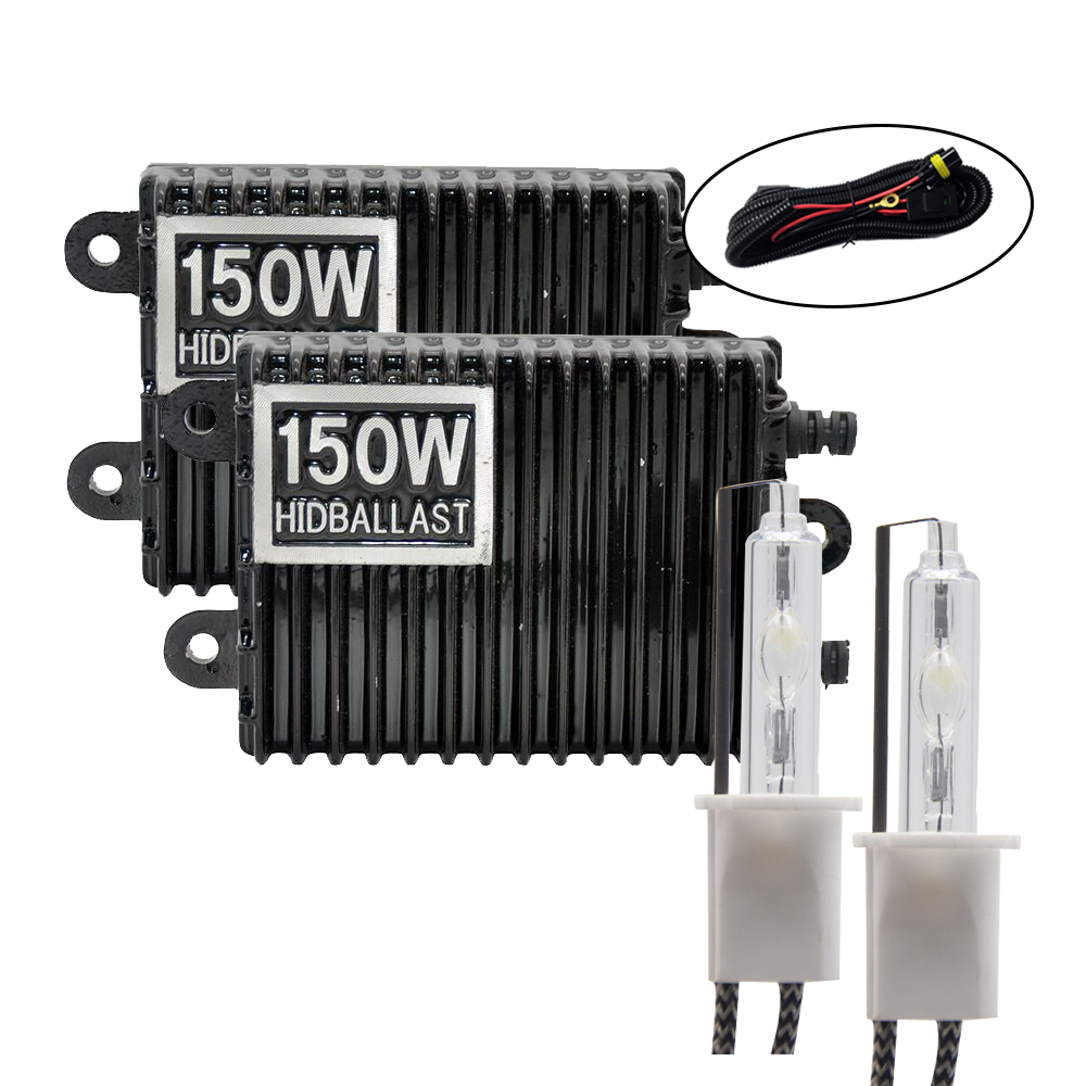 TPTOB 150W Ballast Kit HID Xenon Light Bulb 12V H1 H3 H7 H11 9005 9006 4300k 6000k 8000k Auto Xeno Headlight Lamp