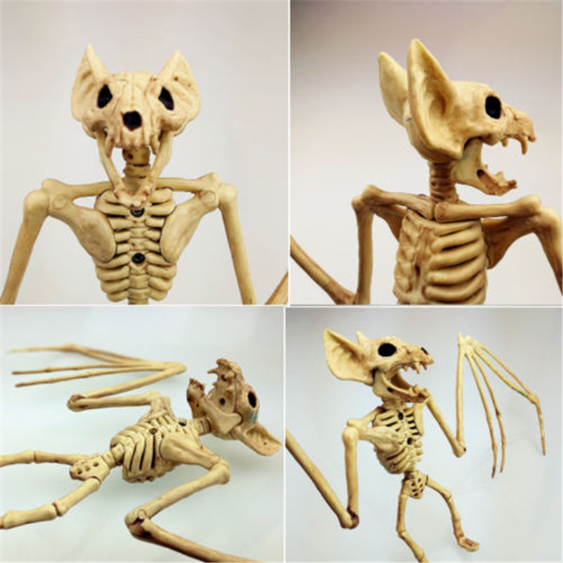 Bone Bat Animals Skeleton Halloween Prop Horror Undead Rodent Decoration Vampire NEW Table Horror Art Decorations