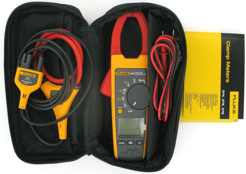 Fluke 376 True rms AC DC Clamp Meter with iFlex 2500A AC with soft case NEW
