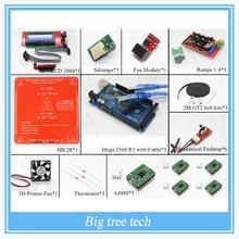 Kits de impresora 3D – Mega 2560 R3 / rampas 1.4 + Heatbed MK2B 2004 LCD Controller + A4988 + tope final + ventilador y ventilador módulo + correa GT2