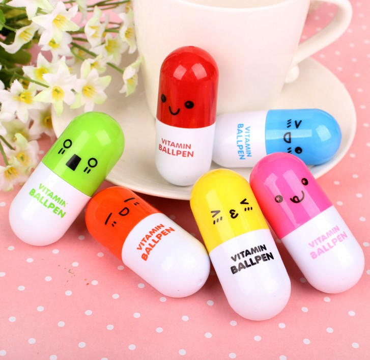 10 pcs lot NNRTS Cartoon Colorful Flexible Ballpoint Pen pill pen Korean Stationery Creative Gift School Supplies Capsule Pen in Banner Pens from Office School Supplies