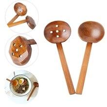 Wooden Soup Spoon Ramen Ladle Strainer Hot Pot Spoons Slotted Scoop Colander