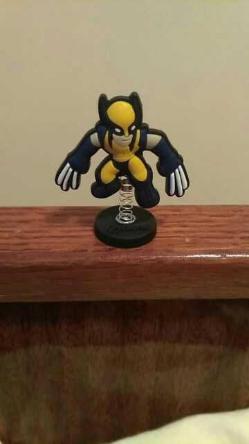 Ícone 1 pcs Deadpool Dominó Bonecas de Pé Quente PVC Acessórios de Decoração Para Casa DIY Ofício Primavera Brinquedos Presente Do Miúdo Favores Do Partido