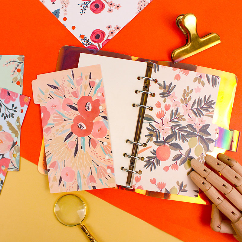 JIANWU 5pcs/set 2019NEW Graffiti Flower Painting Art A5/A6 Separator Page Index Cute Loose-leaf Binder Planner Kawaii Supplies