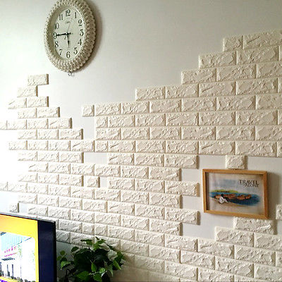 Good White 3D Bricks Self Adhesive Wall Sticker Soft Foam Panels Wallpaper Home Decor  Art White Brick Amazing Design
