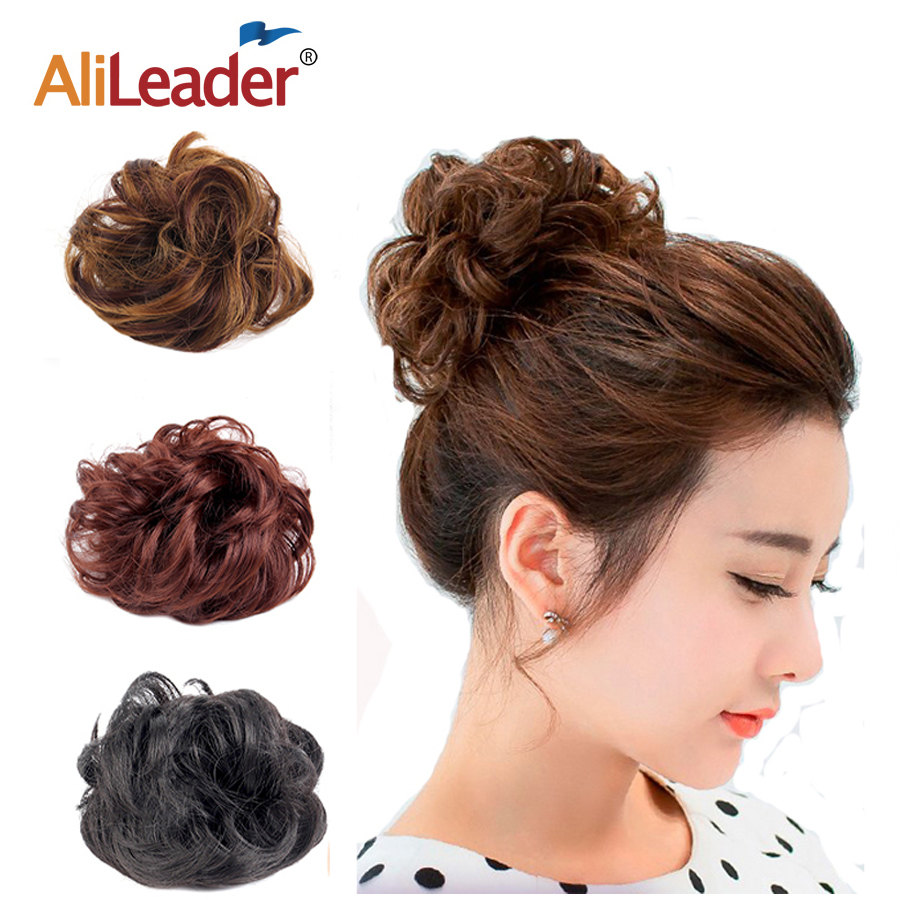 Donut Chignon Hairpieces Black Brown Blonde Accessories Braiding Tools Elastic Band Messy Bun Hair Accessories Twist Fake Bun