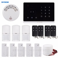 New Application Controlled Wireless GSM Home Burglar Alarm System Remote Control 5 3 4 Door Sensor
