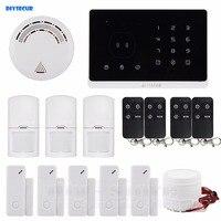 New Application Controlled Wireless GSM Home Burglar Alarm System Remote Control 5 3 4 Door Sensor