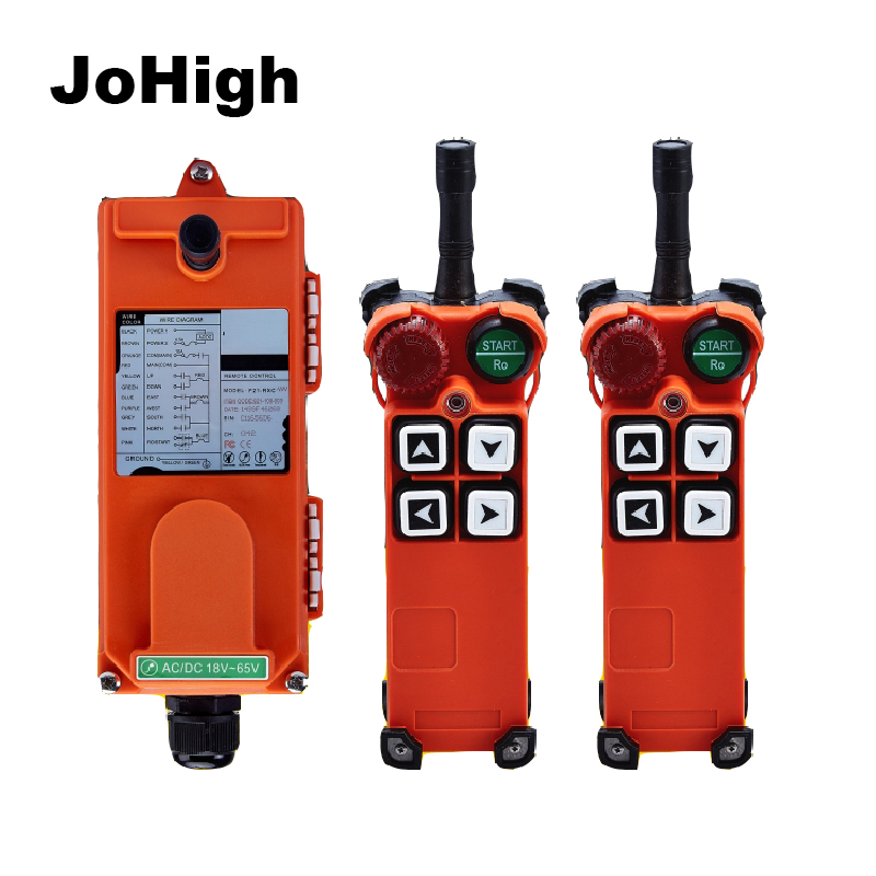 Factory Supply High Grade Remote control wireless industrial crane truck crane remote control 2 transmitters 1