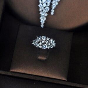 Image 3 - HIBRIDE الفاخرة تصميم AAA مكعب الزركون طقم مجوهرات الزفاف جودة عالية بريليانت موضة الخطوبة مجموعة N 674