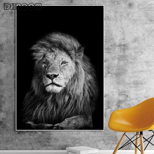 Nordic płótno artystyczny obraz Wall Art zwierząt płótno malarstwo lew Zebra zdjęcia ścienny plakaty z nadrukiem do salonu Home Decor