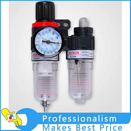 AFC-2000 Air Pressure Regulator oil / Water Separator Filter Airbrush Compressor afr2000 air pressure regulator water separator trap filter airbrush compressor with fittings