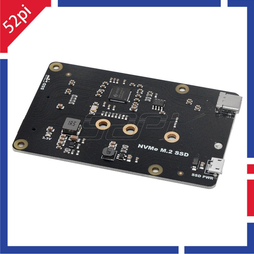 52Pi X870 M.2 NVMe SSD Shield Expansion Board 2280/2260/2242/2230 For Raspberry Pi 1 Model B+/2 B/3 B/3 B+/4 B ROCK64 Banana Pi