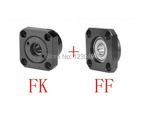 2sets ( Fixed Side FK10 + Floated Side FF10) Ball screw End Supports 5pairs lot ek20 ef20 ball screw guide end supports bearing fixed side ek20 and floated side ef20