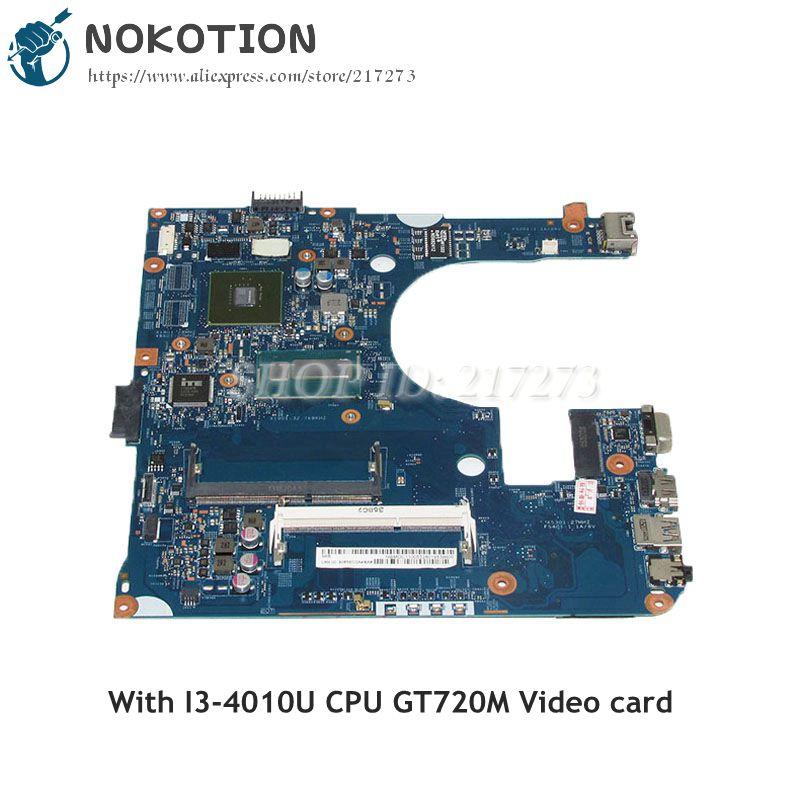 NOKOTION EA40-HW MB 48.4YP07.01M NBMDC11005 MAIN BOARD For Acer aspire E1-472G Laptop Motherboard I3-4010U CPU GT720M Video Card