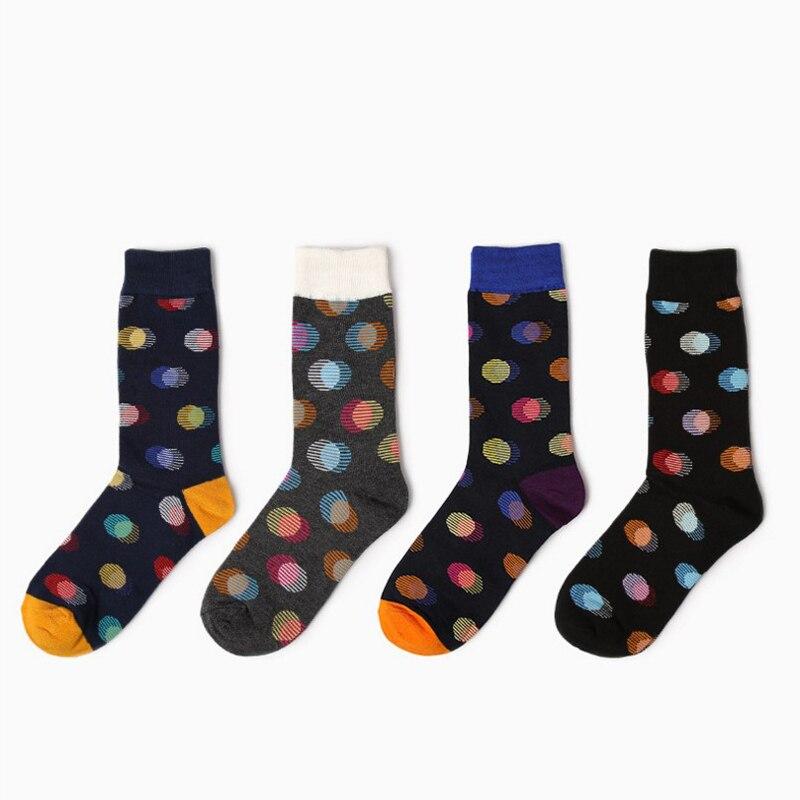 BIG DOTS MEN HAPPY Socks crew Men Combed Cotton Calcetines Hombre socks for women ladies funny socks
