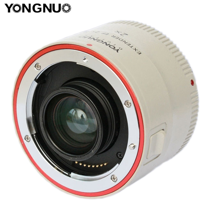 Yongnuo Extender YN-2.0XIII 2X Magnification Teleconverter Auto Focus Mount Lens for Canon EOS EF Lens yongnuo yn 2 0x iii pro 2x teleconverter extender auto focus mount lens camera lens for canon eos ef lens free lens bag