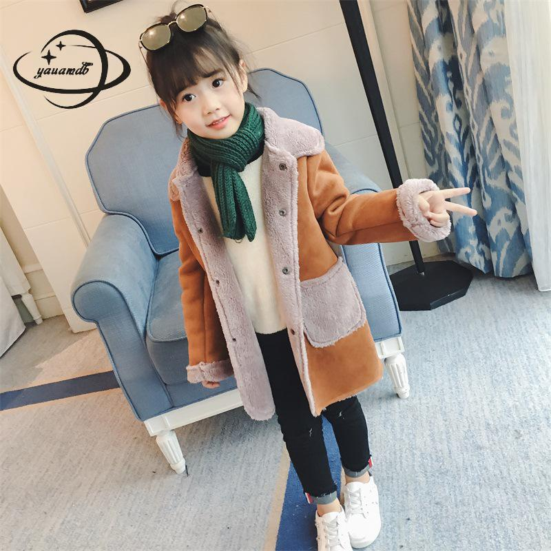 Enthusiastic Kids Wool Coats Autumn Spring 5-15y Single Breasted Girls Blends Jackets Clothing Cartoon Donkey Children Outerwear Clothes Ly64