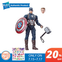 Hasbro Marvel Legends 6 Inch Captain America Power And Glory Exclusive with Mjolnir Hammer Avengers For Boys Girls Child