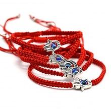 Ручной работы плетеный веревочный счастливый красный струнный браслет сглаза очаровательные браслеты для женщин приносят вам удачу спокойный регулируемый размер