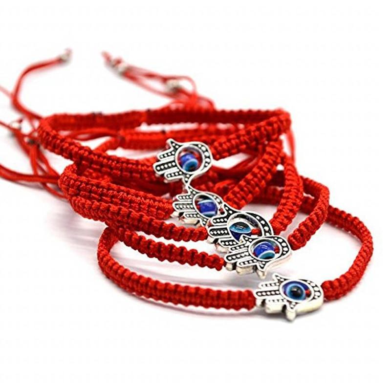 Handmade Braided Rope Lucky Red String Bracelet Evil Eye Charm Bracelets for Women Bring You Lucky Peaceful Adjustable size