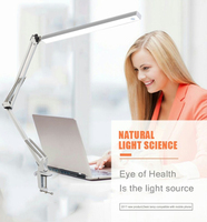 LED Desk Lamp,Architect Lamp/LED Task Lamp with Clamp, Metal Swing Arm Desk Lamp,White