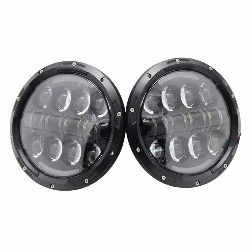 7 inch 80W Round LED Headlights High&Low Beam with Angel Eye/Amber Turn Signal light for Jeep Wrangler JK LJ CJ Hummer H1 H2 last designed high quality side view mirror cover with led turn signal light for jeep wrangler jk