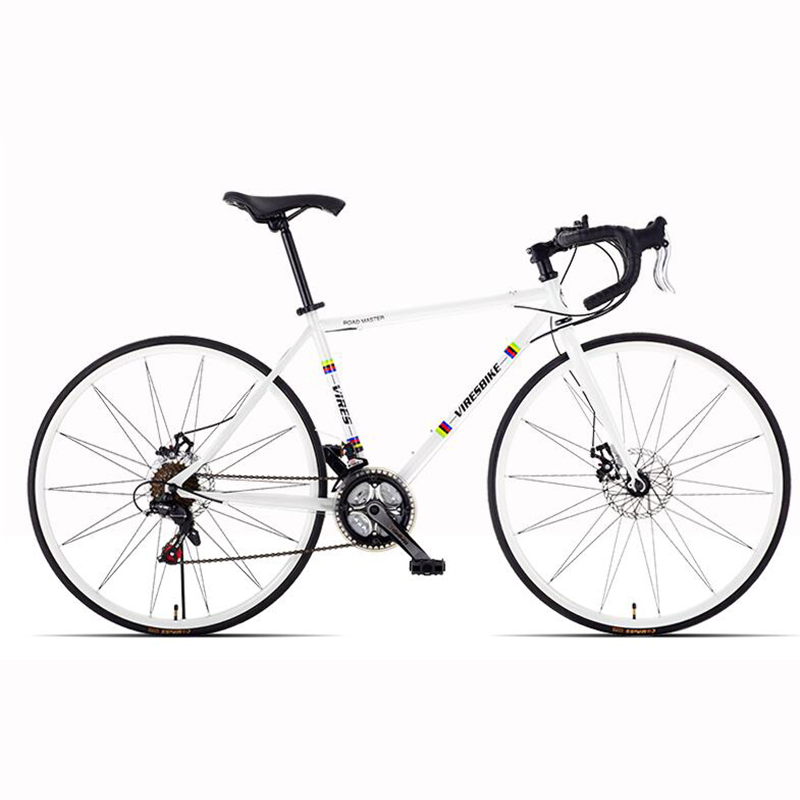 2019 New Product Road Bike Variable Speed Double Disc Brake Broken Wind Curved Handle Women And Men Adult Bicycle