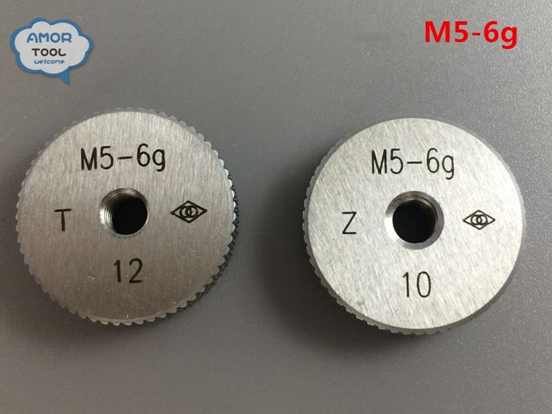 T+Z  metric thread ring gage M5-6g gauge tools(set of 2 ) for detecting a standard diameter of external thread  цены
