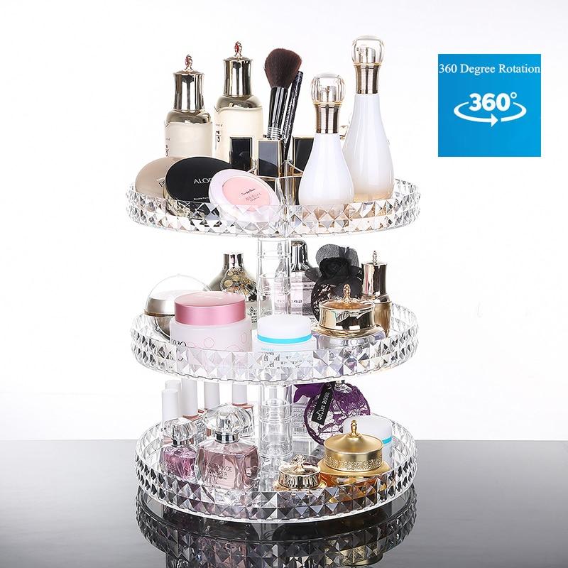 Creative DIY Transparent Acrylic Cosmetics Storage Box Fashion Multi-function Removable Saves Space Cosmetics Jewelry Organize