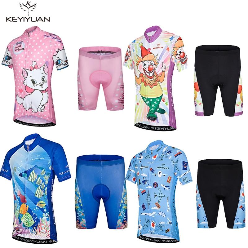 Hot 2018 KEYIYUAN Summer Children Cycling Jersey Padded Boy Girl Bike  Clothing Road Bicycle Sportswear Bike Jersey Set Shorts-in Cycling Sets  from Sports ... 5650a08ba