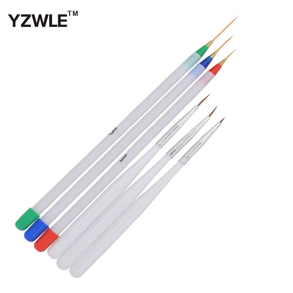 WUF 6Pcs/Pack 3 Fine Drawing 3 Striping Liner Design Set Nail Tool 6Pcs/Pack Nail Art Pens Brushes 40 4 pcs multipurpose fiber nail art drawing pens