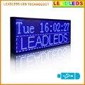 """Leadleds 30 """" x 11 """" cor azul Multi - linha Usb programável mensagem de rolagem levou exibição"""