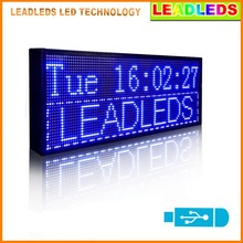 Leadleds 30″x11″ Blue Color Multi-line LED Display Programmable Scrolling Message Led Sign Top Advertising Sign For Car Window