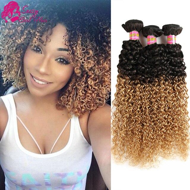 Brazilian Curly Virgin Hair 3 Bundles Crochet Hair