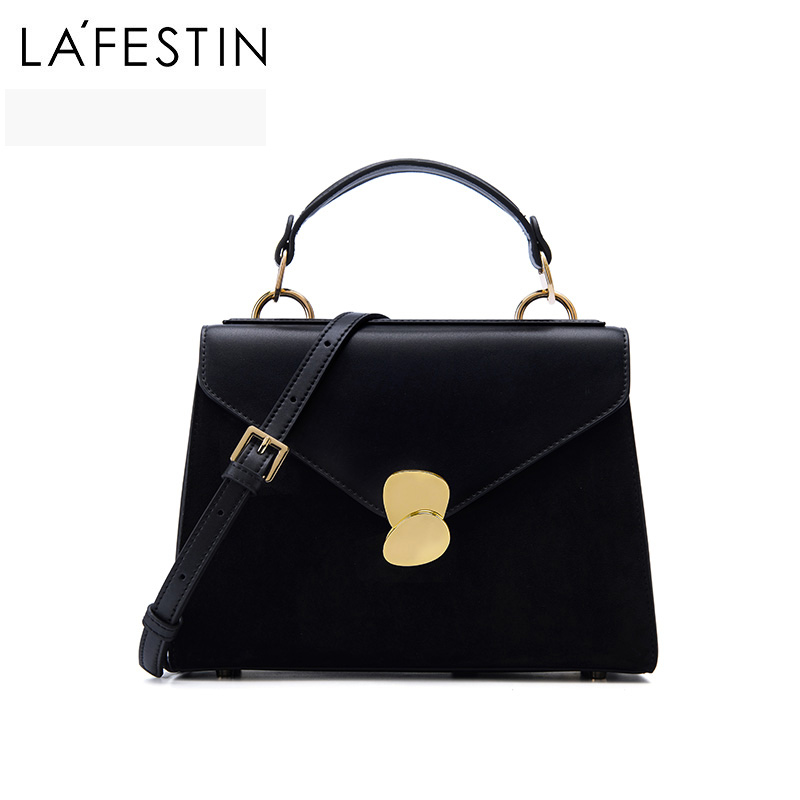 LA FESTIN 2018 new Split leather tote bag female handbag retro shoulder bag fashion Messenger bag