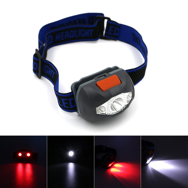 Grey 50M Distance Adjustable 4 Modes 3 LED Headlamp Headlight Lamp linterna frontal Torch  for camping Bicycle Outdoor Running