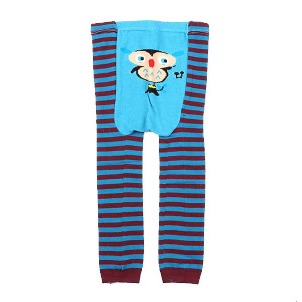 Infant Toddler Baby Kid Newborn Cartoon Striped Leggings Long Pants 6 Color