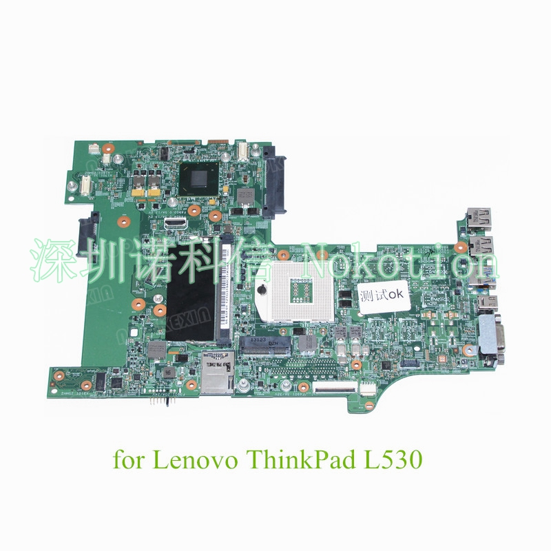 NOKOTION FRU 04Y2022 for lenovo ThinkPad L530 15 Inch Laptop motherboard HD4000 SLJ8E DDR3 fru 63y1896 for lenovo thinkpad w510 laptop motherboard qm67 ddr3 nvidia quadro fx 880m 15 6 inch