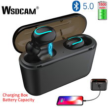 Bluetooth 5.0 Earphones TWS Mini Wireless Sports Earbuds Headset Stereo Deep Bass Earphone with Charging Box 1500 mAh Power Bank все цены