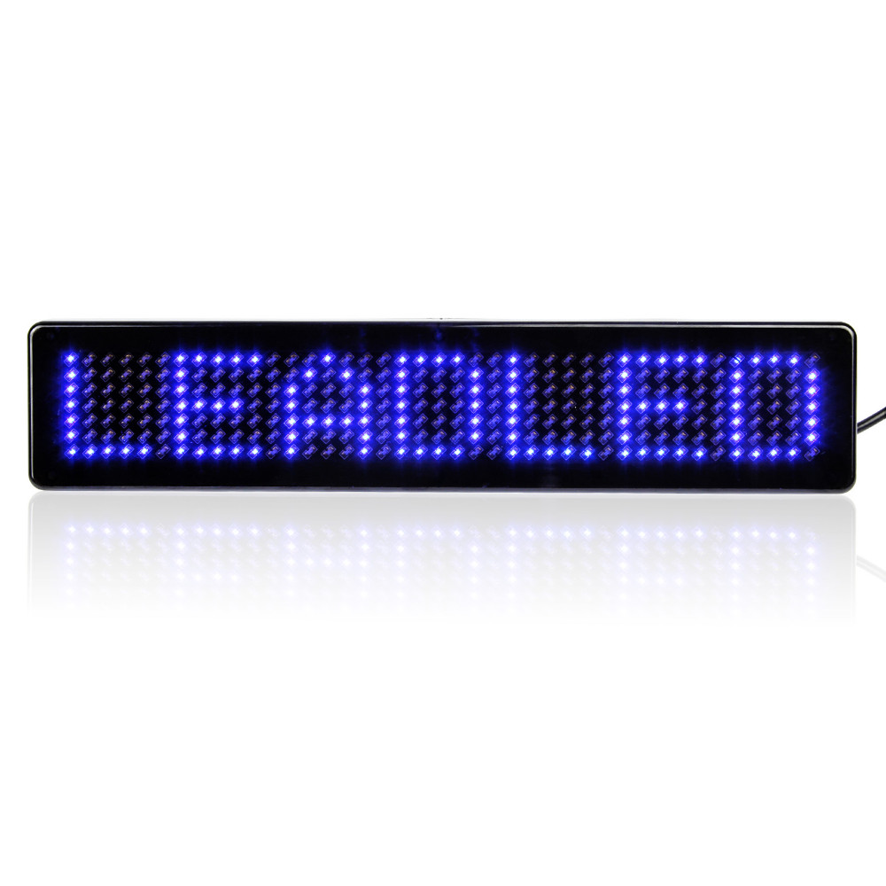 2 Pcslot 741Dots Led Car Display Board DC12V  Remote Control Programmable Srolling Message Car Sign 2