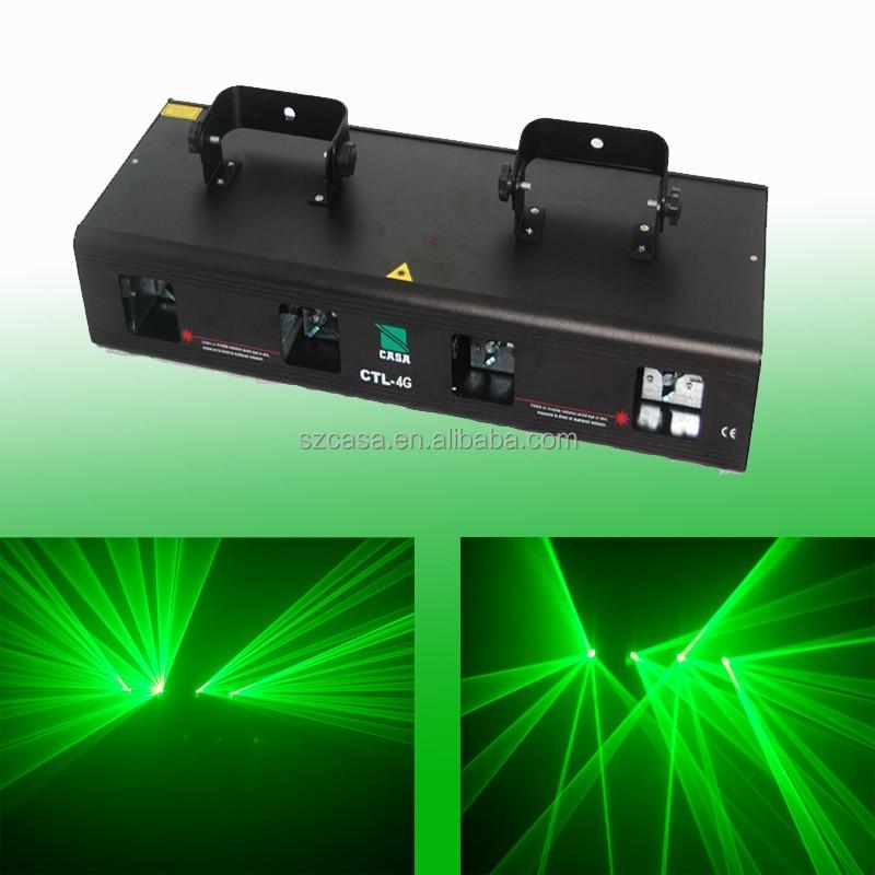 4 lens 200mw green dj disco light DMX sound laser show system