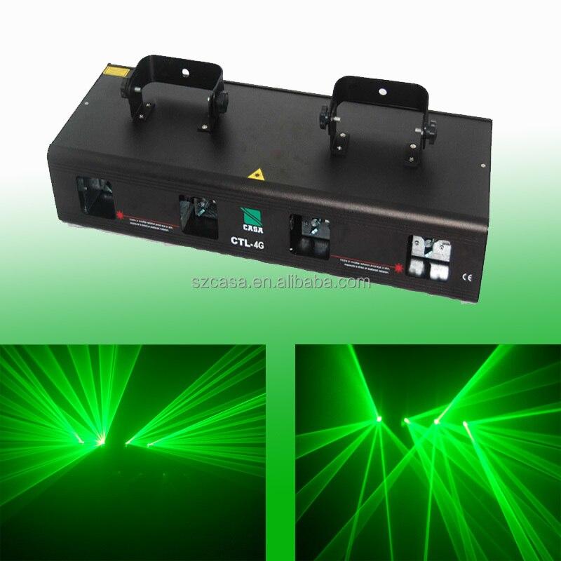 4 lente 200 mw verde dj discoteca luz laser show sistema DMX som-in Efeito de Iluminação de palco from Luzes e Iluminação on Casa Electronic Co., Ltd.---Wholesale