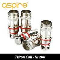 Oryginalny 5 sztuk Triton Wymiana Atomizer 0.3ohm Głowy 316L/0.4ohm Cewki E Cig Głowy dla Aspire Triton/Triton 2/Atlantis zbiorniki