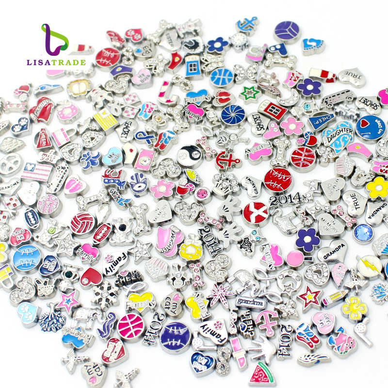 "2016 New Sale Floating Charms ""Mix Style"" Zinc Alloy Fit Floating charm lockets & Floating locket bracelet LSFC115*100"
