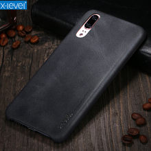 For Huawei P10 P20 Case X-Level New Leather Phone Ultra thin Protective Back Cover For Huawei P10 P20 Pro Lite(China)