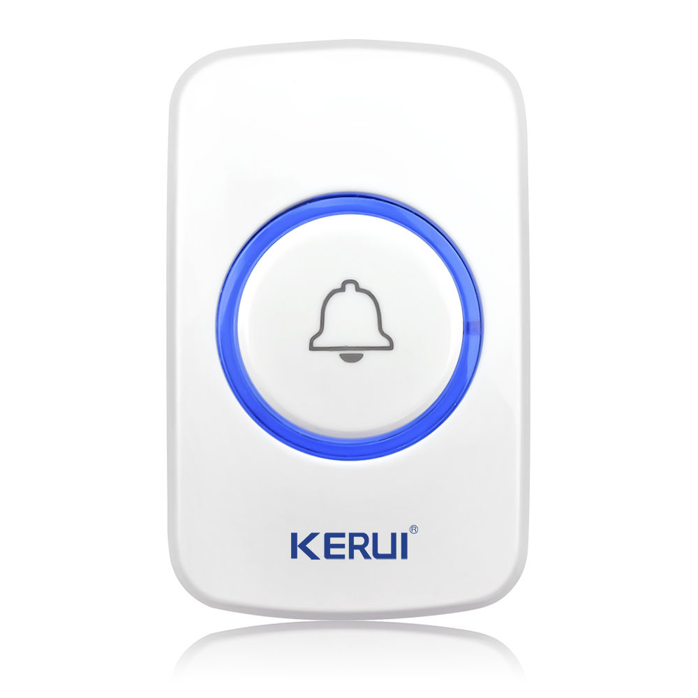 KERUI Wireless Doorbell Smart Receiver Home Gate Security Doorbell Emergency Button For Home Alarm System Security System 433MHz wireless pager system 433 92mhz wireless restaurant table buzzer with monitor and watch receiver 3 display 42 call button