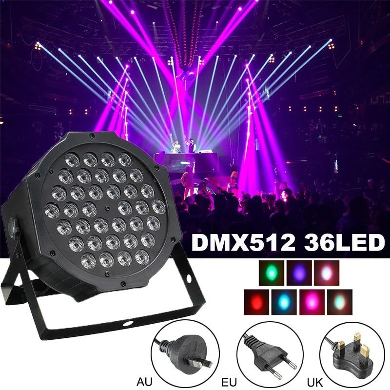 все цены на Smuxi RGB Stage Light 36 LEDS PAR Light Disco DJ Lighting Club Party light Strobe AC110-220V UK/EU/AU Plug+ Remote онлайн