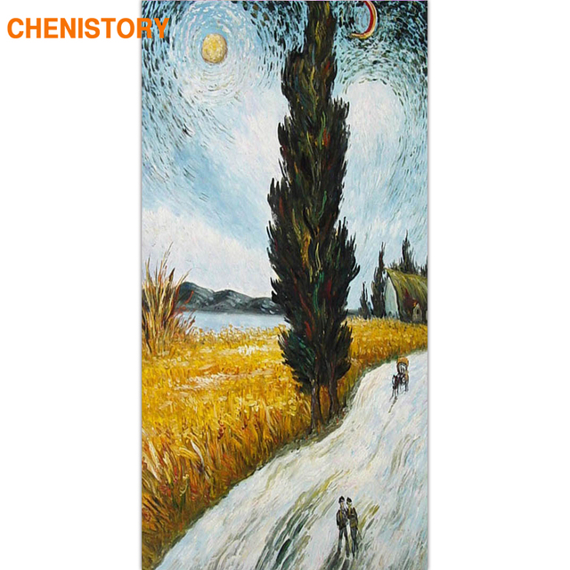 CHENISTORY Frame Abstract Landscape DIY Painting By Numbers Acrylic Paint On Canvas Wall Art Picture Handpainted For Home Decor
